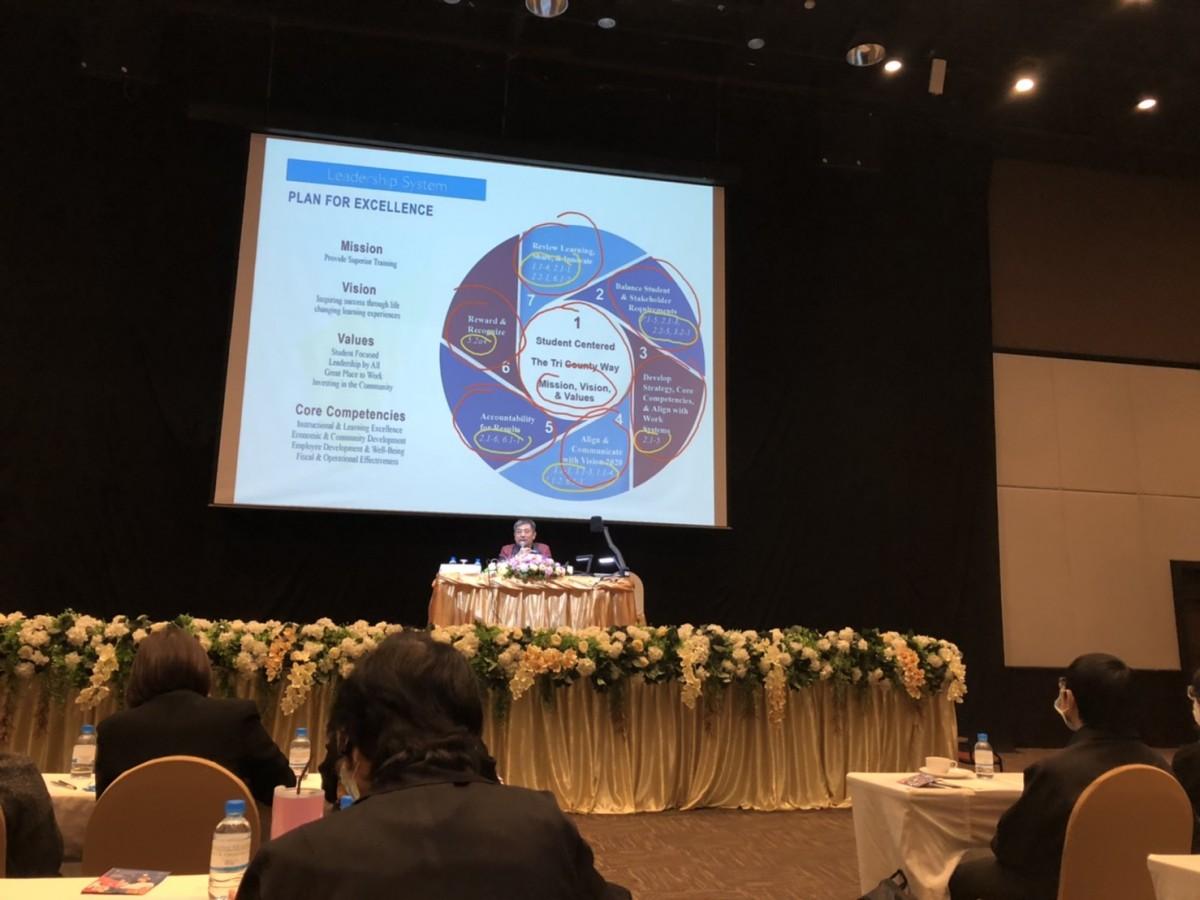 ผู้บริหาร อาจารย์ และเจ้าหน้าที่ คณะศึกษาศาสตร์ มช. เข้าร่วมรับการอบรม เรื่อง Introduction to TQA/EdPEx