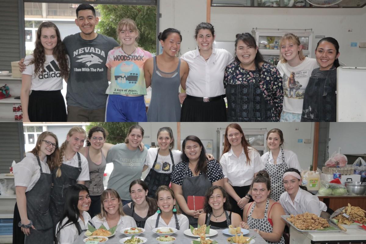 คณะศึกษาศาสตร์ มช. จัดสอนการทำอาหารไทยให้แก่นักศึกษาต่างชาติ โครงการ USAC (Spring 2020)