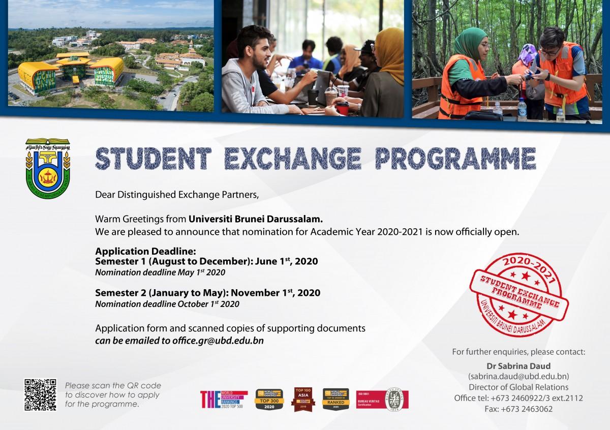 UBD Student Exchange Programme 2020 -2021