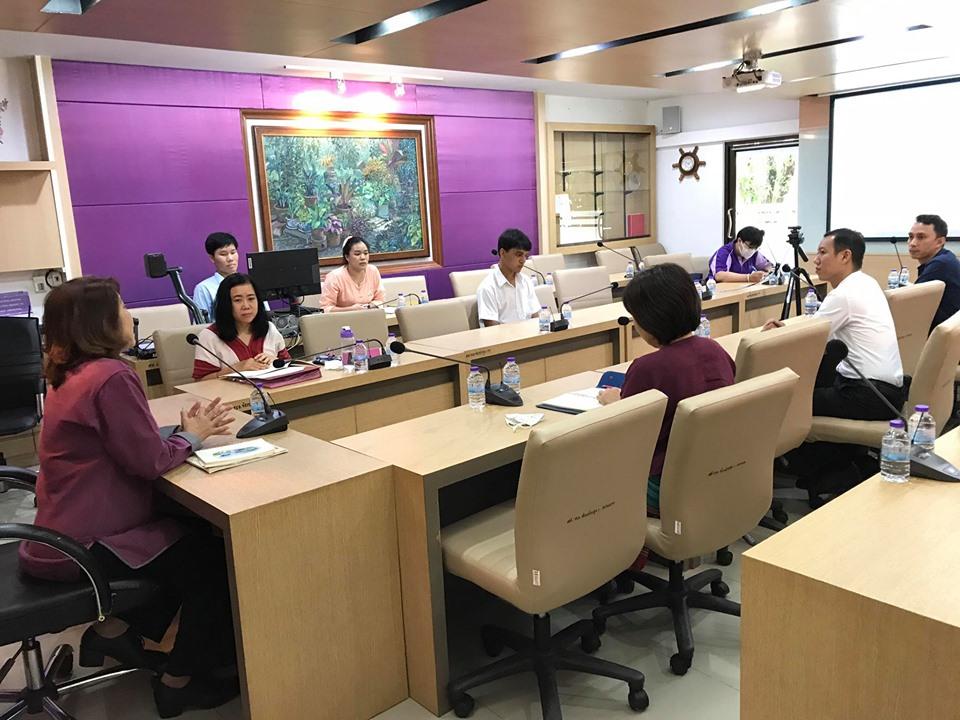 ประชุม หารือ เเนวทางการจัดกิจกรรมชมรมเชียร์ ภาคการศึกษาที่ 1 ปี การศึกษา 2563