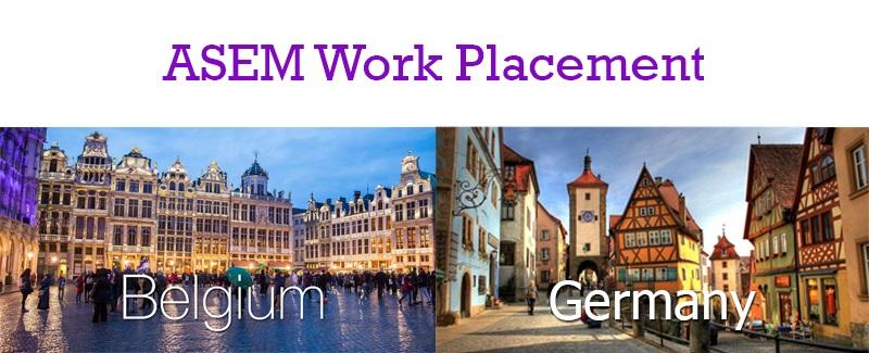 ASEM Work Placement ประจำปี 2564 เพื่อฝึกงาน ณ ประเทศเบลเยียมหรือเยอรมนี