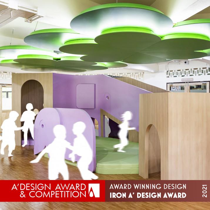 ห้องเรียนอาคารสาธิต 1 โรงเรียนสาธิตฯ ระดับอนุบาลและประถมศึกษา ได้รางวัลระดับ Iron A' Design Award Winner in Interior Space and Exhibition Design ประจำปี 2020 - 2021.