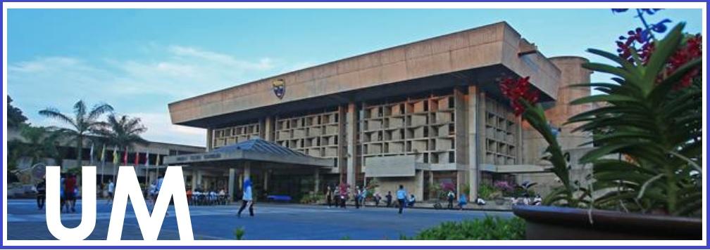 โครงการแลกเปลี่ยนนักศึกษาระดับ ป.ตรี และบัณฑิตศึกษา ณ Universiti Malaya ประเทศมาเลเซีย