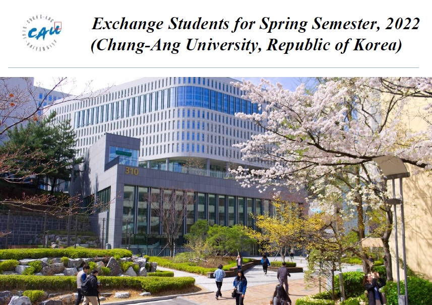 CAU Exchange Students for Spring Semester 2022